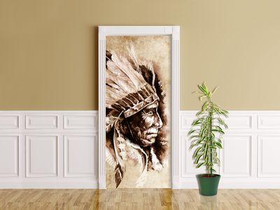 Türaufkleber - Indianer III, Tattoo Art (Sitting Bull) – Bild 2
