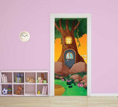 Türaufkleber - Kinderbild Baumhaus – Bild 1