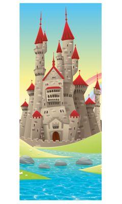 Türaufkleber - Kinderbild Burg – Bild 2