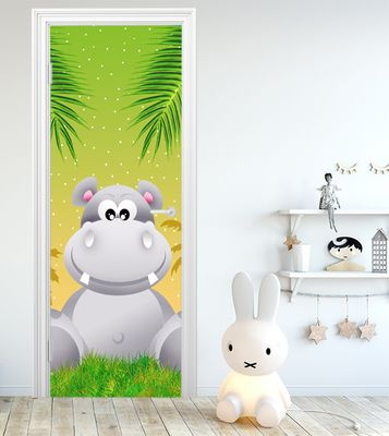 Türaufkleber - Kinderbild Hippo – Bild 1