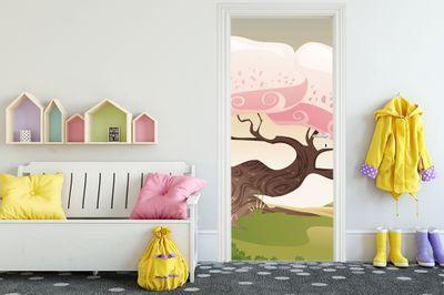 Türaufkleber - Kinderbild Märchenbaum – Bild 1