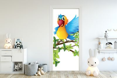 Türaufkleber - Kinderbild Papagei