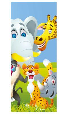 Türaufkleber - Kinderbild Tiere Cartoon IV – Bild 2