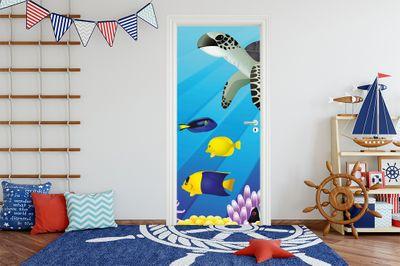 Türaufkleber - Kinderbild Unterwasser Tiere II – Bild 1