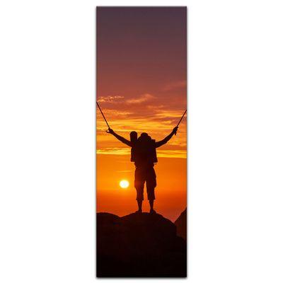 Leinwandbild - Wanderer im Sonnenuntergang III – Bild 4