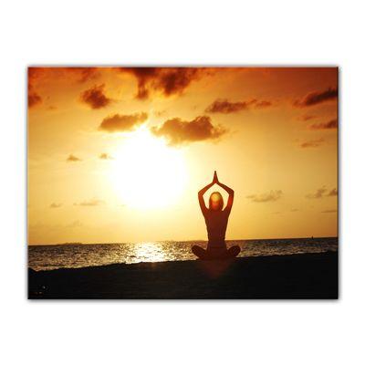 Leinwandbild - Yoga am Strand – Bild 4