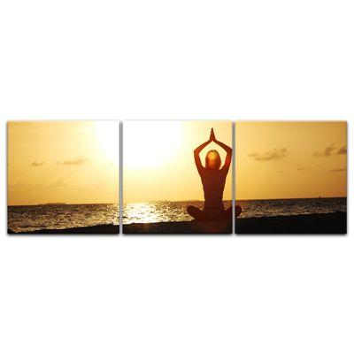 Leinwandbild - Yoga am Strand – Bild 6