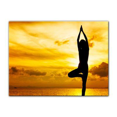 Leinwandbild - Yoga am Strand II – Bild 9