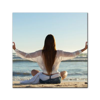 Leinwandbild - Yoga am Strand III – Bild 2
