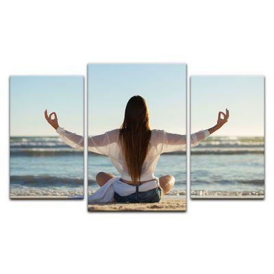 Leinwandbild - Yoga am Strand III – Bild 9