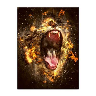 Kunstdruck - Brüllender Löwe – Bild 7