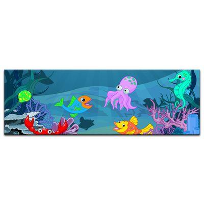 Kunstdruck - Kinderbild - Unterwasser Tiere X – Bild 4
