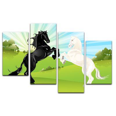 Kunstdruck - Kinderbild - springende Pferde – Bild 6
