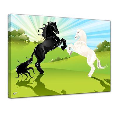 Kunstdruck - Kinderbild - springende Pferde – Bild 1