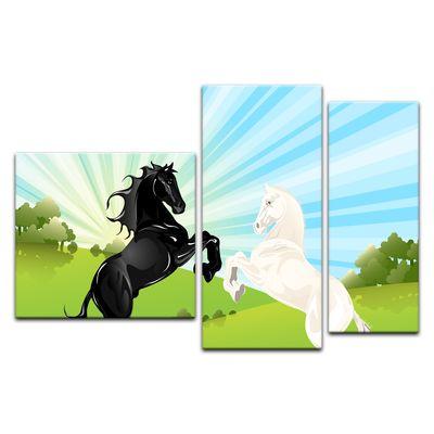 Kunstdruck - Kinderbild - springende Pferde – Bild 3