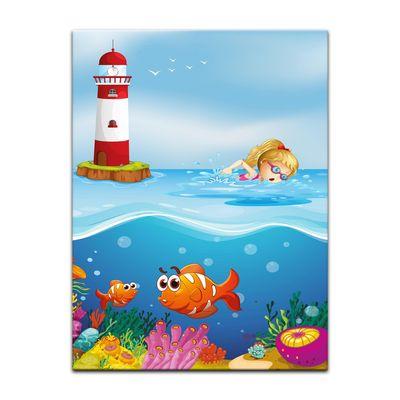 Kunstdruck - Kinderbild - Unter dem Meer Cartoon – Bild 5