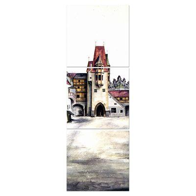 Leinwandbild - Alte Meister - Albrecht Dürer - Der Hof der Burg zu Innsbruck – Bild 5