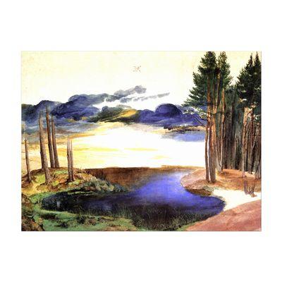 Kunstdruck - Alte Meister - Albrecht Dürer - Weiher im Walde – Bild 2