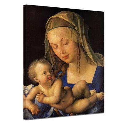 Leinwandbild - Alte Meister - Albrecht Dürer - Maria mit der Birnenschnitte – Bild 1