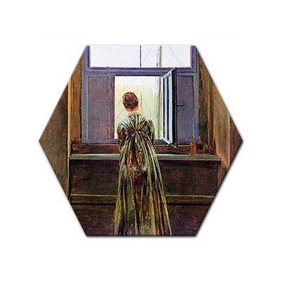 Leinwandbild - Alte Meister - Caspar David Friedrich - Frau am Fenster – Bild 6
