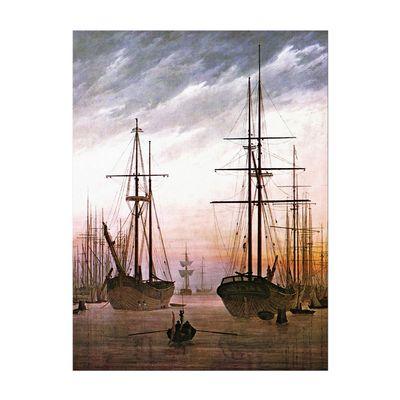 Caspar David Friedrich - Ansicht eines Hafens – Bild 2