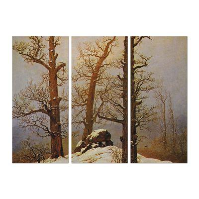 Caspar David Friedrich - Hünengrab im Schnee – Bild 4