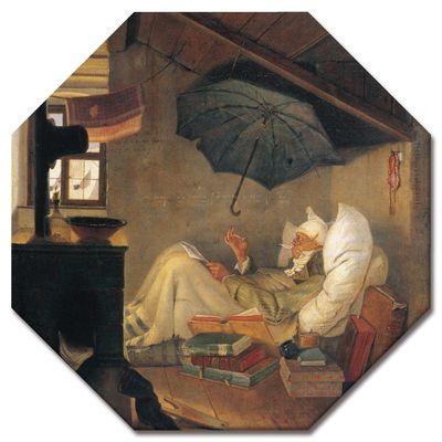 Leinwandbild - Alte Meister - Carl Spitzweg - Der arme Poet – Bild 6
