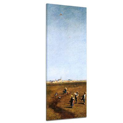 Leinwandbild - Alte Meister - Carl Spitzweg - Drachensteigen – Bild 1