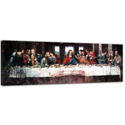 Leinwandbild - Alte Meister - Leonardo da Vinci - Das Abendmahl – Bild 1