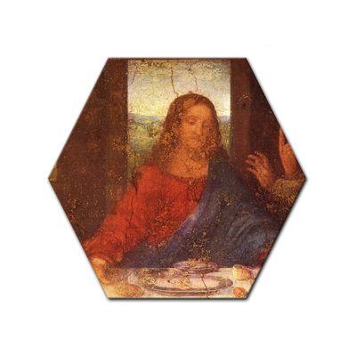 Leinwandbild - Alte Meister - Leonardo da Vinci - Das Abendmahl - Jesus Detail – Bild 7