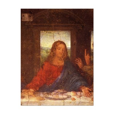 Leinwandbild - Alte Meister - Leonardo da Vinci - Das Abendmahl - Jesus Detail – Bild 2