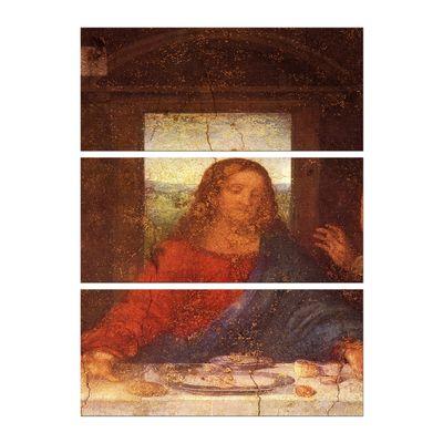 Leinwandbild - Alte Meister - Leonardo da Vinci - Das Abendmahl - Jesus Detail – Bild 3