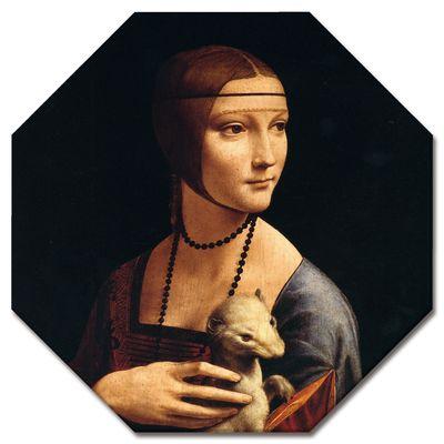 Leinwandbild - Alte Meister - Leonardo da Vinci - Die Dame mit dem Hermelin – Bild 4