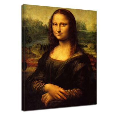 Leinwandbild - Alte Meister - Leonardo da Vinci - Mona Lisa – Bild 1