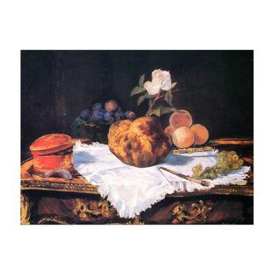 Kunstdruck - Alte Meister - Édouard Manet - Stillleben mit Brioche – Bild 2