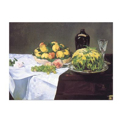 Kunstdruck - Alte Meister - Édouard Manet - Stillleben mit Melone und Pfirsichen – Bild 2