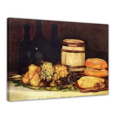 Kunstdruck - Alte Meister - Francisco de Goya - Stillleben mit Früchten, Flaschen, Broten – Bild 1