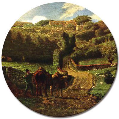 Leinwandbild - Alte Meister - Jean-François Millet - Der Weiler Cousin bei Gréville – Bild 6