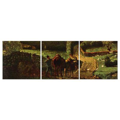 Leinwandbild - Alte Meister - Jean-François Millet - Der Weiler Cousin bei Gréville – Bild 5