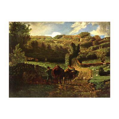 Leinwandbild - Alte Meister - Jean-François Millet - Der Weiler Cousin bei Gréville – Bild 2