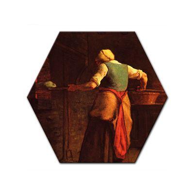 Leinwandbild - Alte Meister - Jean-François Millet - Frau beim Brotbacken – Bild 5