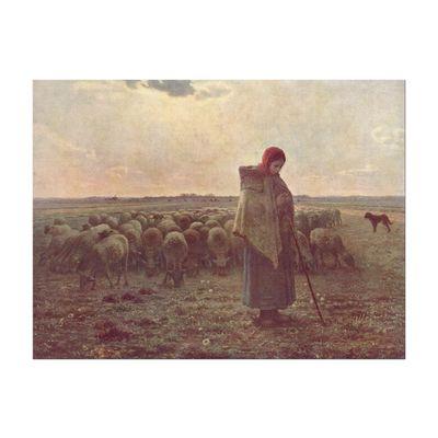 Jean-François Millet - Die Hirtin – Bild 3