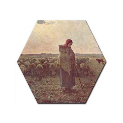 Leinwandbild - Alte Meister - Jean-François Millet - Die Hirtin – Bild 6