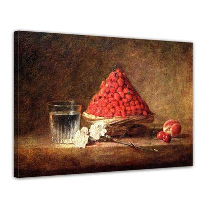 Kunstdruck - Alte Meister - Jean Siméon Chardin - Der Erdbeerkorb – Bild 1