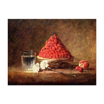 Kunstdruck - Alte Meister - Jean Siméon Chardin - Der Erdbeerkorb – Bild 2