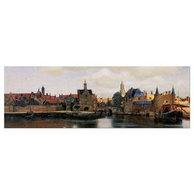 Leinwandbild - Alte Meister - Jan Vermeer - Ansicht von Delft – Bild 5
