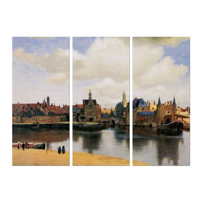 Leinwandbild - Alte Meister - Jan Vermeer - Ansicht von Delft – Bild 3