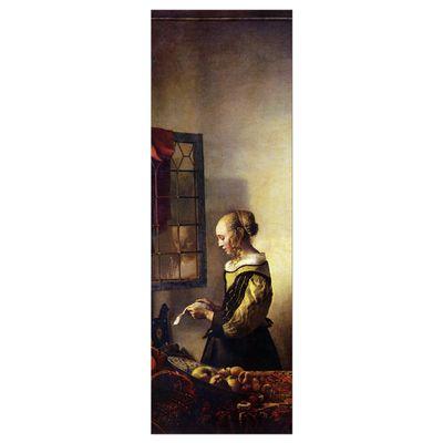 Leinwandbild - Alte Meister - Jan Vermeer - Briefleserin am offenen Fenster – Bild 4