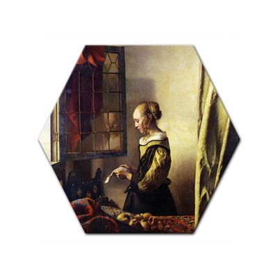 Jan Vermeer - Briefleserin am offenen Fenster – Bild 8