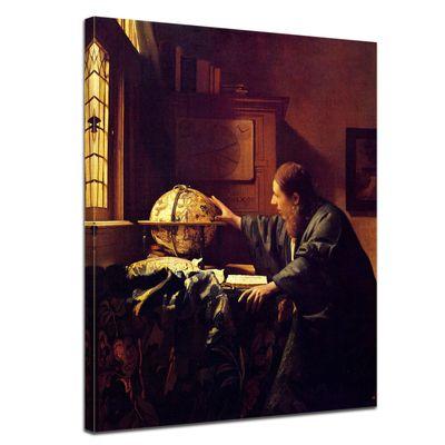 Leinwandbild - Alte Meister - Jan Vermeer - Der Astronom – Bild 1